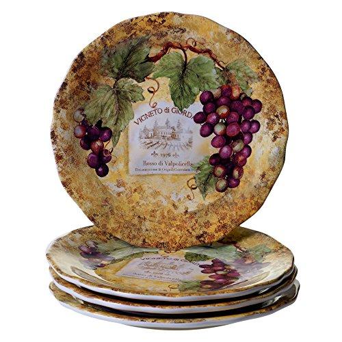 Certified International Gilded Wine Dinner Plates (Set of 4), 10.75