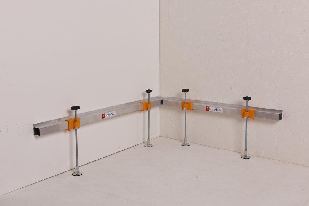 enti/èrement r/églable mur de carrelage Batten prend en charge | r tiletracker DIY sp/écial sur pied c/âbles escamotable et Membranes moisissure pr/êt /à lutilisation en 2/minutes |avoid endommager les tuyaux