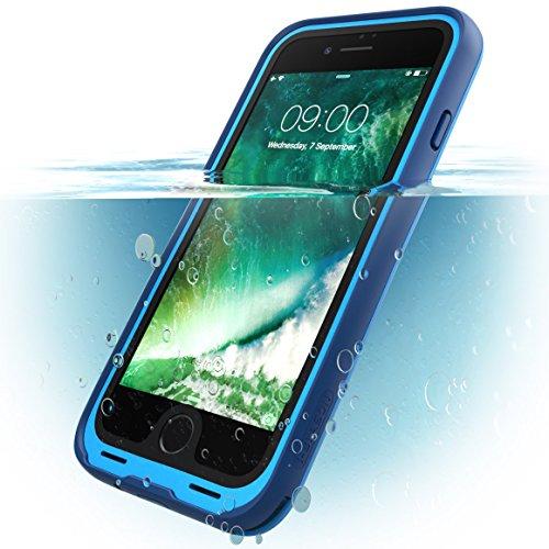 i Blason iPhone7 WaterProof Case Blue Waterproof Full body Rugged