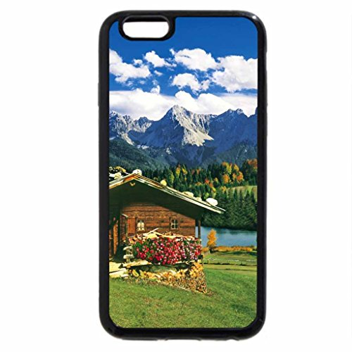 iPhone 6S / iPhone 6 Case (Black) Lovely mountain cottage