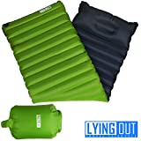 Premium Fast & Easy Inflatable Ultralight Sleeping Pad Camping, Thick insulation mat w/Builtin Pillow & Inflating bag: Compact & Lightweight Air Mattress for Hiking and Backpacking, Closed-cell design