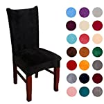 Colorxy Spandex Fabric Stretch Dining Room Chair Slipcovers Home Decor Set of 4