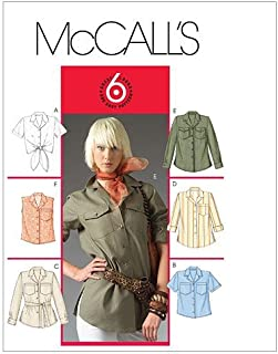 McCall's Patterns M5052 Misses'/Miss Petite Shirt In 2 Lengths and Tie Belt, Size EE (14-16-18-20) by McCall's Patterns