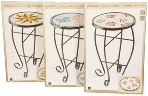 MODELE ETOILE (A GAUCHE SUR LA PHOTO) TABLE MOSAIQUE FER ...
