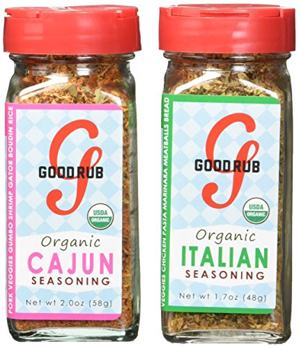 Meatballs Organic (Good Rub Organic Seasonings, Cajun and Italian, 3.7 Ounce)
