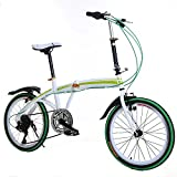 """Image of Garain 20"""" Portable Folding Urban City Compact Sports Bike 6-Speed Bicycle Cycling for Adult Ladies (US STOCK)"""
