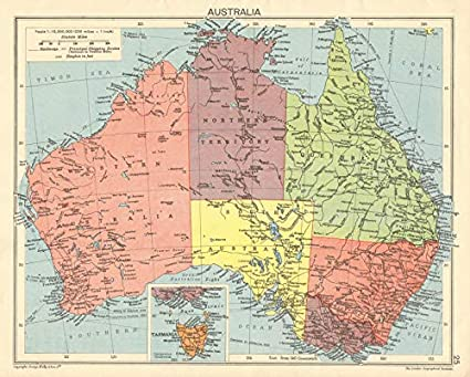 Map Of Australia With States.Amazon Com Second World War Australia States Territories