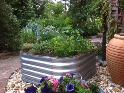 Panel metálico de acero galvanizado para hacer un macetero elevado sin base: Amazon.es: Jardín