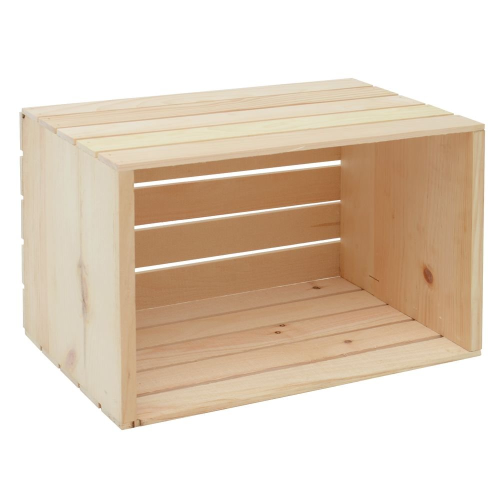 Crate, Natural Wood, 20 x 12 1/2 x 12 3/4 by Retail Resource