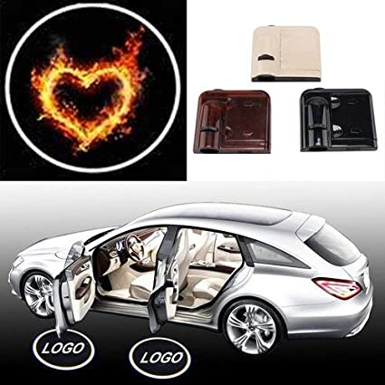 Amazon Com Heart Horse Universal Wireless Car Door Welcome Logo