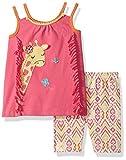 Nannette Toddler Girls' 2 Piece Playwear Bike Short Set, Pink, 4T