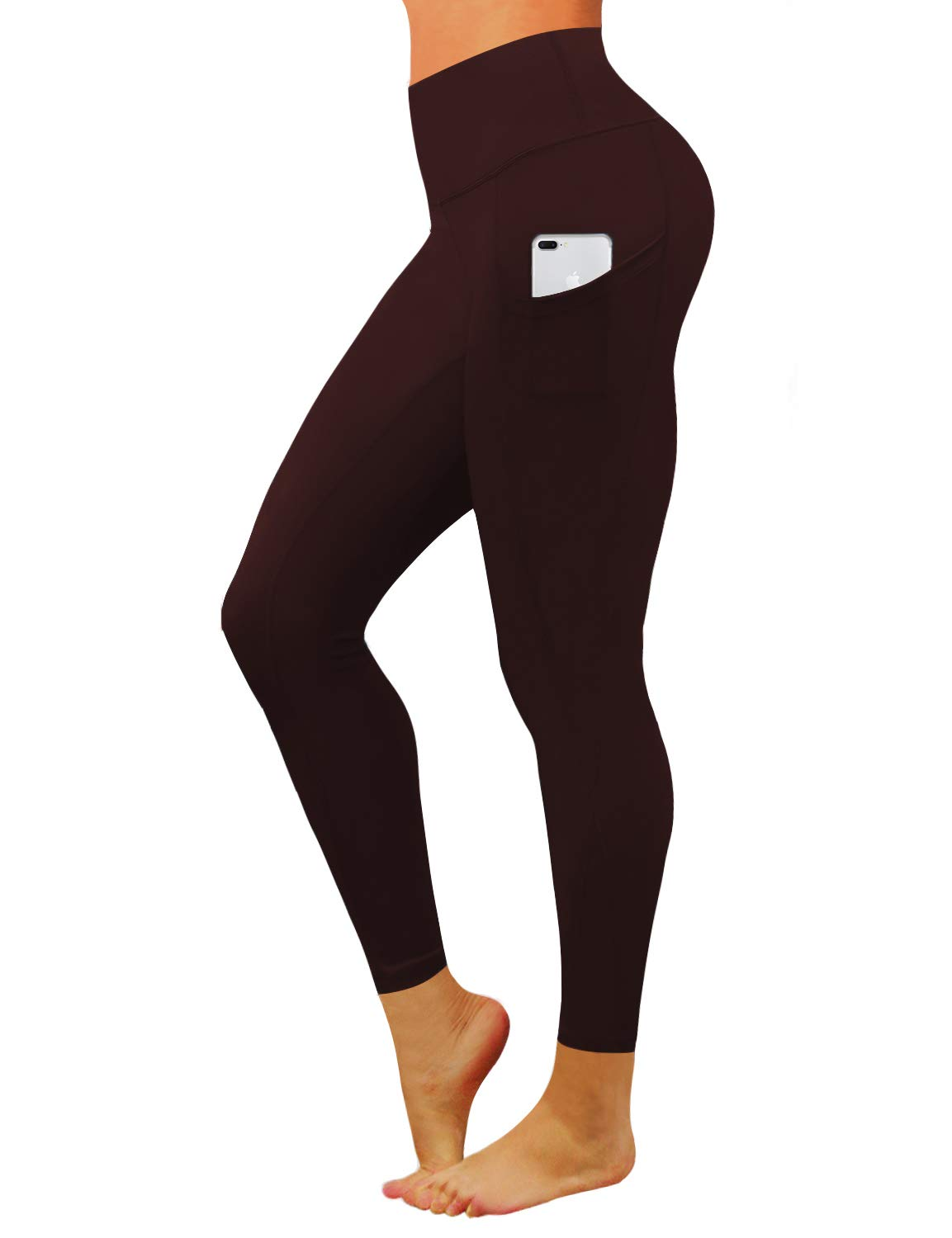BUBBLELIME High Compression Yoga Pants Out Pocket Running Pants High Waist UPF30+ Workout Pants