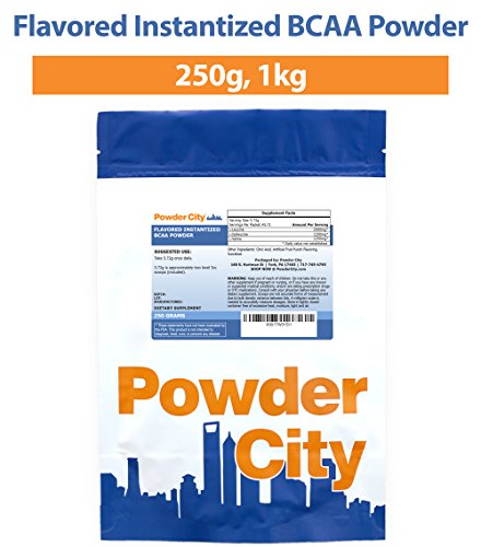 Powder City Fruit Punch Flavored Instantized BCAA Powder (1 Kilogram)