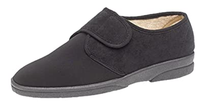 ebea7fa304b MS464A-6 Mens Extra Wide Stretch Slipper  Amazon.co.uk  Shoes   Bags