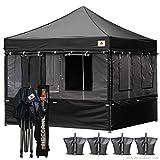 ABCCANOPY Food Vendor Tent 10x10 Food Vendor Booths 10x10 Food Service Canopy (black)