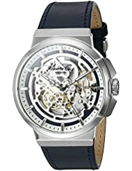 Kenneth Cole New York Mens Automatic Automatic Stainless Steel and Blue Leather Dress Watch (Model: 10022316)