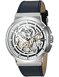 Men's 'Automatic' Automatic Stainless Steel and Blue Leather Dress Watch (Model: 10022316)