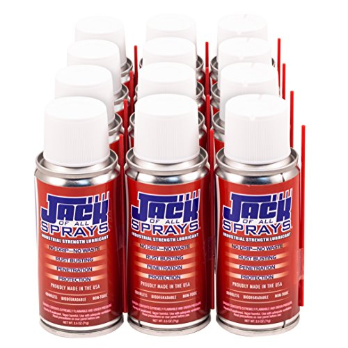 Jack of All Sprays Industrial Strength Lubricant - 2.5 Ounce (Pack of 12)