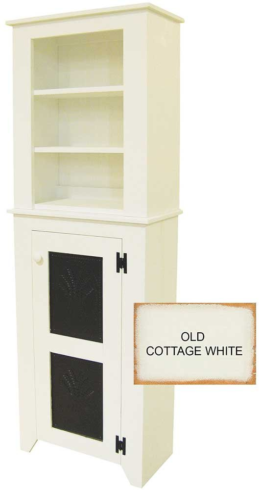 Punched Tin Hutch (Old Cottage White)
