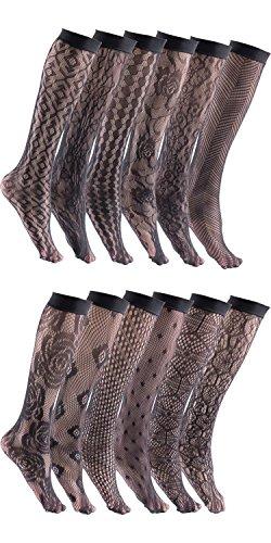 Patterned Knee Sock - 6