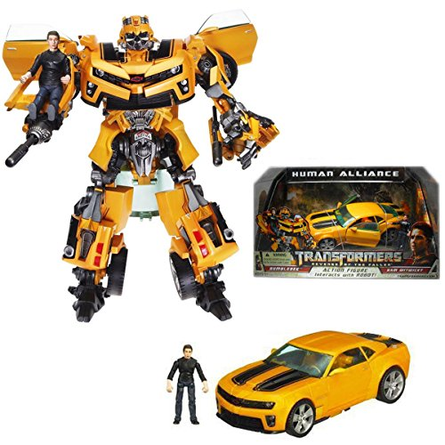 [NEW! Original Hasbro Transformers ROTF Human Alliance Bumblebee with Sam NO BOX] (Arcee Prime Costume)