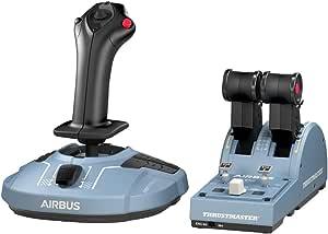 Thrustmaster TCA Officer Pack Airbus Edition Réplicas ergonómicas de los cuadrante de aceleración y palanca de control lateral de Airbus, Compatible con PC
