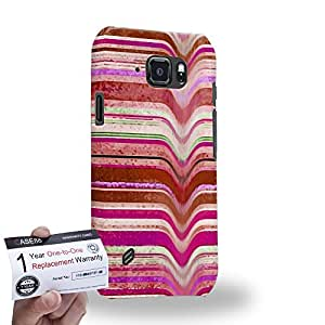 Case88 [Samsung Galaxy S6 Active] 3D impresa Carcasa/Funda dura para & Tarjeta de garantía - Art Fashion Pink Melting Stripes