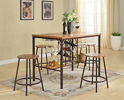 Wholesale Interiors Bar Table (Baxton Studio Vintner Pub Set)