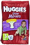 HUGGIES Supreme Little Movers Diapers, Jumbo Size 3, 16-28 lb 31-Count by Huggies