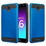 SOGA BLU Advance A6 2017 Case, BLU Studio Mega S610P Case, BLU Studio XL 2 S0270UU Case, Shockproof Absorption Anti-Scratch Brush Texture Slim Armor Protector Cover (Blue)