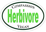 Vegan Decal - Herbivore Compassion VEGAN Vinyl Sticker - Vegan...