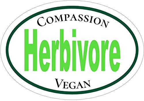 WickedGoodz Herbivore Compassion Vegan Vinyl Window Decal Perfect Vegetarian Gift Vegan Bumper Sticker