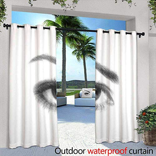 (Lightly Exterior/Outside Curtains,Everest Mountain Peak The top of The World (m),W96 x L96 Thermal Insulated Water Repellent Drape for)