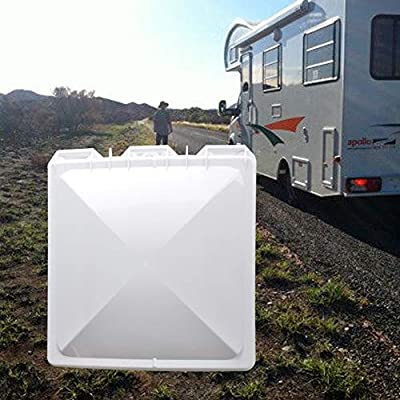HOMEE RV Roof Vent Cover 14 inch, Vent Lid Impact-Resistant Vent Line Fan Lid for Camper Trailer Motor Home Gift: Automotive