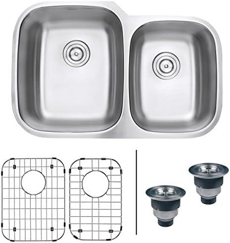 Ruvati 32-inch Undermount 60 40 Double Bowl 16 Gauge Stainless Steel Kitchen Sink – RVM4310