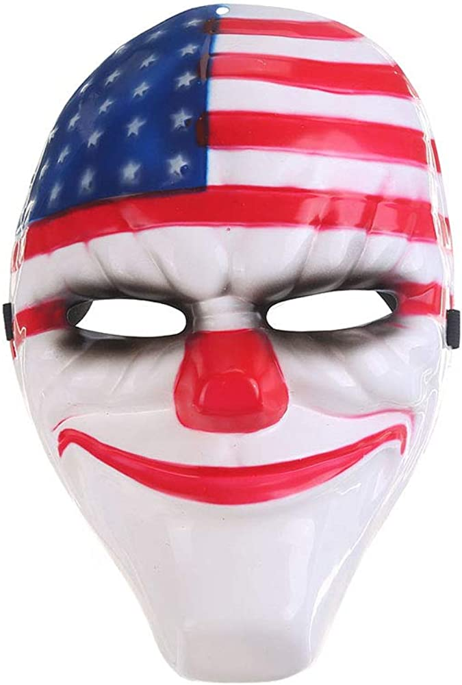 HanYoer Halloween Mask Scary Full Face PVC Mask Party Horror Cosplay Masquerade Party