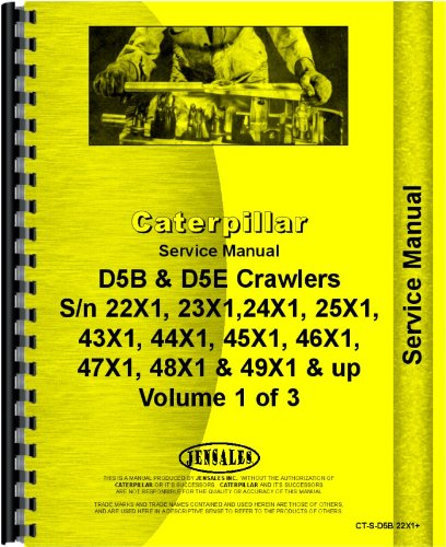 Download Caterpillar D5B Crawler Service Manual (SN# 8MB1 and Up, 22X1 and UP, 23X1 and UP, 24X1 and UP, 25X1 and UP, 43X1 and UP, 44X1 and UP, 45X1 and UP, 46X1 and UP, 47X1 and UP, 48X1 and UP, 49X1 and UP) ebook