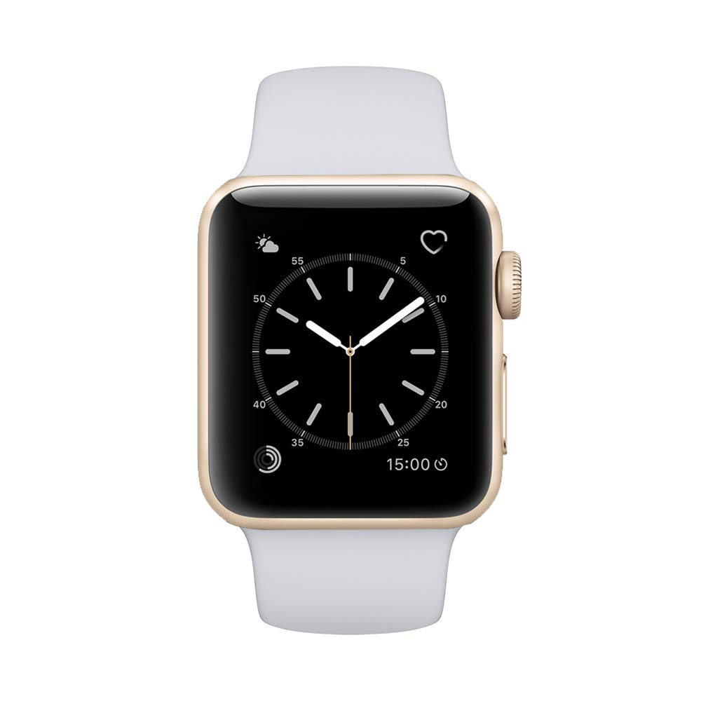 Apple Watch Series 2 Smartwatch 42mm Gold Aluminum Case Fog Sport Band (Fog Sport Band) (Renewed) (Fog)