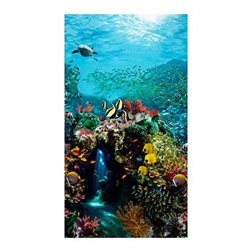 Ocean Fish Fabric - Beneath The Waves Digital Print Ocean Panel Scenic Ocean Fabric