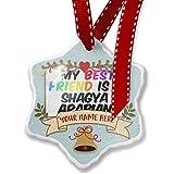 Add Your Own Custom Name, My best Friend a Shagya Arabian, Horse Christmas Ornament NEONBLOND