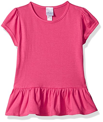 Clementine Kids Toddlers Ruffle Fine Jersey T-Shirt Dress, HOT Pink 5/6