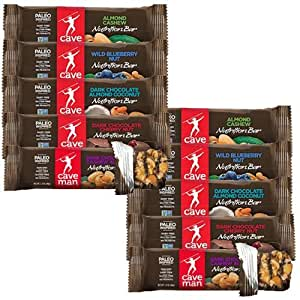 Caveman Foods Primal Performance Caveman Bar Variety (Pack of 10) (2 each of 1.4 Ounce)
