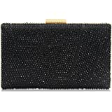 Women Clutches Crystal Evening Bags Clutch Purse Party Wedding Handbags (Black)