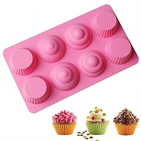 nicebuty 8 agujero caca de silicona con forma de hielo molde para tartas molde hecho a mano jabón chocolate molde cubito de hielo bandeja parodia de caca: ...