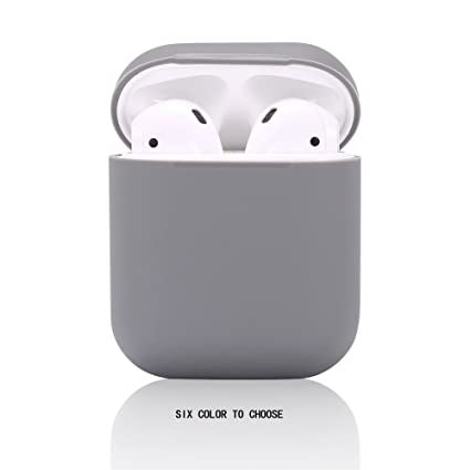 new concept f98cb edde7 Airpods Case/Airpods 2 Case,Teyomi Protective Silicone Cover Skin with  Sport Strap for Apple Airpods Charging Case[Front LED Not Visible] (Gray)