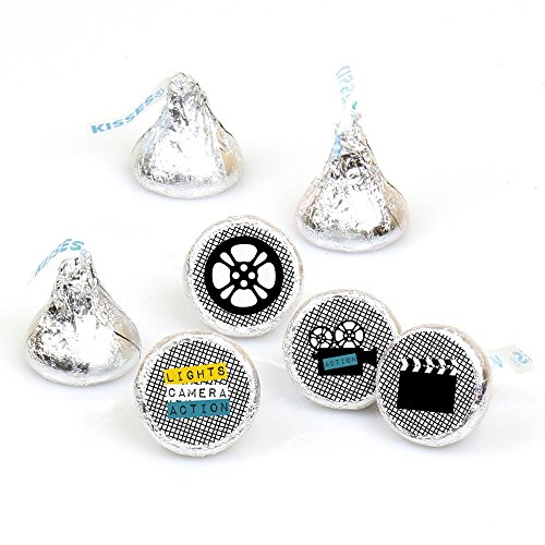 Movie - Hollywood Round Candy Sticker Favors - Labels Fit Hershey's Kisses (1 sheet of 108)
