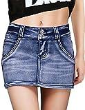 DELUXSEY Womens Mini Skirts for Summer - Short Pencil Skirt for Women (Blue, M)