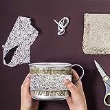 3 Inch Lace Ribbon, Floral Lace Trim, Elastic