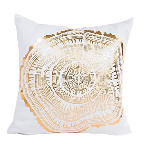 Clearance ! AmyDong Gold Foil Printing Pillow Case Linen pillowcase Sofa Bed Home Decor Pillow Cover Throw Cushion Cover - Shaped Pentagon Items