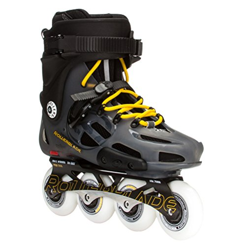 Rollerblade 15 TWISTER PRO Limited Premium Level Urban/All Condition Skate TRS - US Made Hydrogen Wheels, Grey/Yellow, US Men 12